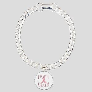 Fight Club with Pink Rib Charm Bracelet, One Charm