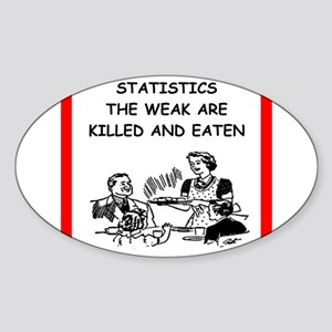 statistics Sticker (Oval)