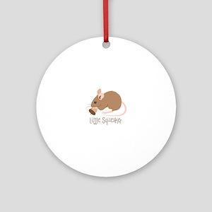 Little Squeaker Round Ornament