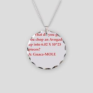 chemistry joke Necklace Circle Charm
