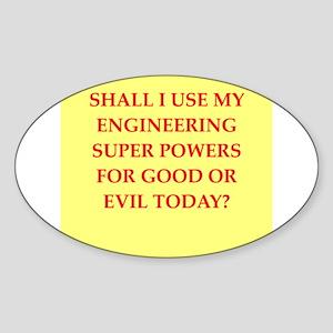 engineer Sticker (Oval)