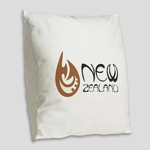 New Zealand Burlap Throw Pillow