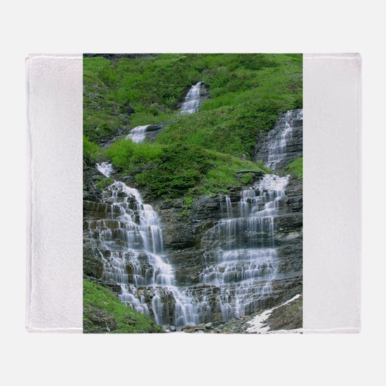 glacier national park Throw Blanket