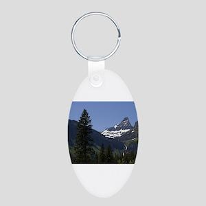 glacier national park Aluminum Oval Keychain