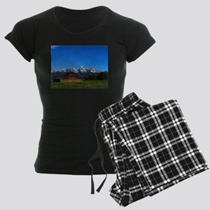 Grand Tetons Naional Park Women's Dark Pajamas