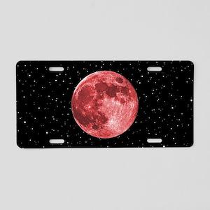 Blood Moon Aluminum License Plate