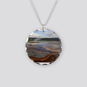 yellowstone national park Necklace Circle Charm