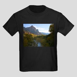 Zion Ntional Park Kids Dark T-Shirt