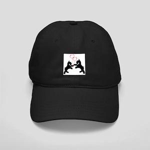 giant schnauzer hearts love i Black Cap