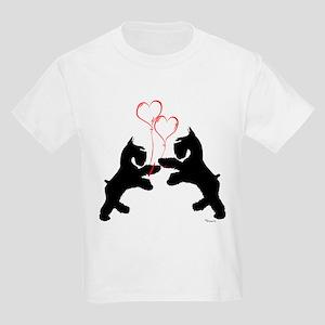 giant schnauzer hearts love i Kids T-Shirt