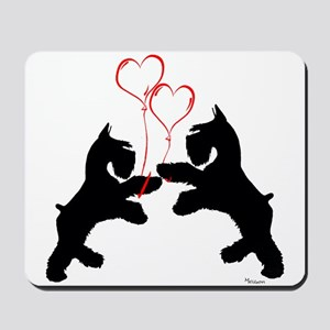 giant schnauzer hearts love i Mousepad