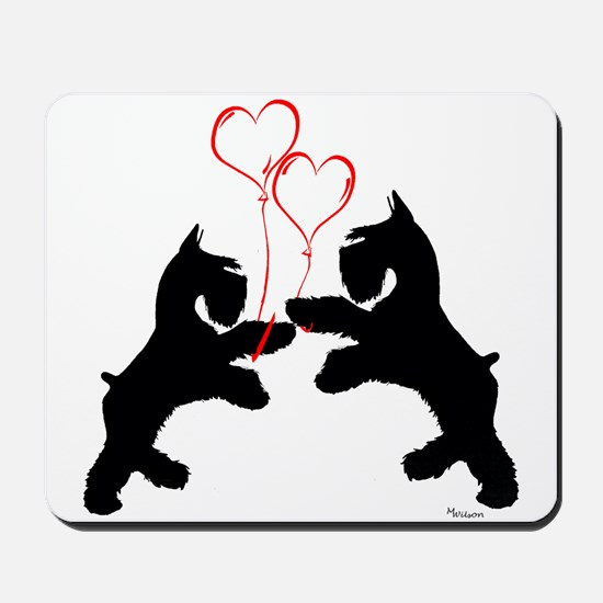 giant schnauzer hearts love i Mousepad