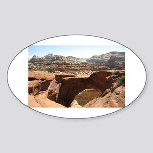 capitol reef Sticker (Oval)