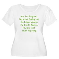 Pregnant Surprise due August T-Shirt