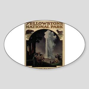 YELLOWSTONE5 Sticker (Oval)