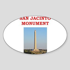 san jacinto monument Sticker (Oval)