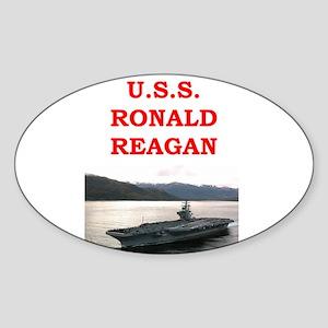ronald reagan Sticker (Oval)