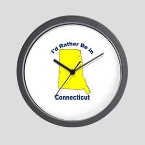 I'd Rather Be in Connecticut Wall Clock