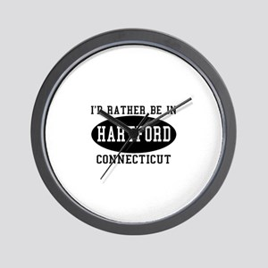I'd Rather Be in Hartford, Co Wall Clock