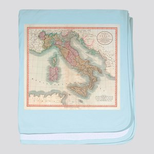 Vintage Map of Italy (1799) baby blanket