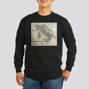 Vintage Map of Italy (1799) Long Sleeve T-Shirt