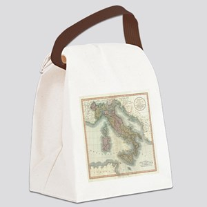 Vintage Map of Italy (1799) Canvas Lunch Bag