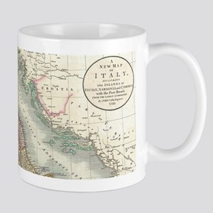 Vintage Map of Italy (1799) Mugs