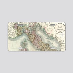 Vintage Map of Italy (1799) Aluminum License Plate