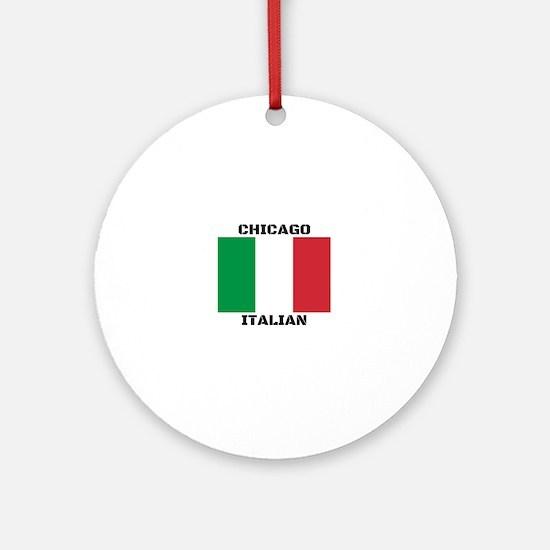 Chicago Italian Pride Round Ornament