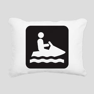 Jet Ski Park Symbol Rectangular Canvas Pillow