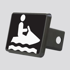 Jet Ski Park Symbol Rectangular Hitch Cover
