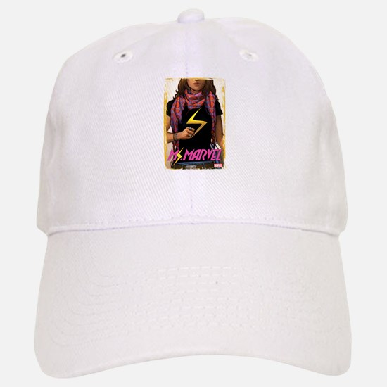 Ms. Marvel Cover Grunge Baseball Baseball Cap