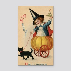 Vintage Halloween Witch Rectangle Car Magnet