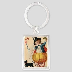 Vintage Halloween Witch Portrait Keychain
