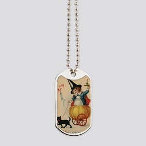 Vintage Halloween Witch Dog Tags