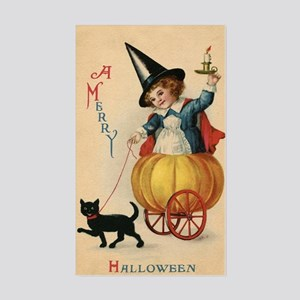 Vintage Halloween Witch Sticker (Rectangle)
