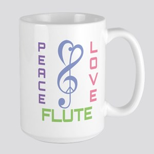Peace Love Flute Music Mugs