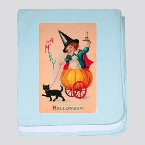 Vintage Halloween Witch baby blanket
