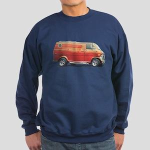 1970s Custom Van (vintage distressed look) Sweatsh