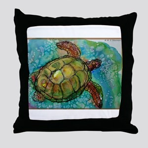 Sea turtle! Wildlife art! Throw Pillow