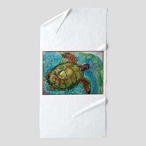 Sea turtle! Wildlife art! Beach Towel