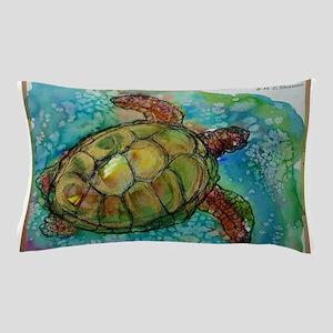 Sea turtle! Wildlife art! Pillow Case