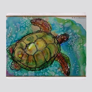 Sea turtle! Wildlife art! Throw Blanket