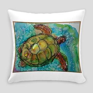 Sea turtle! Wildlife art! Everyday Pillow