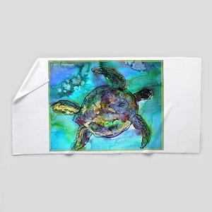 Sea Turtle, Wildlife art! Beach Towel