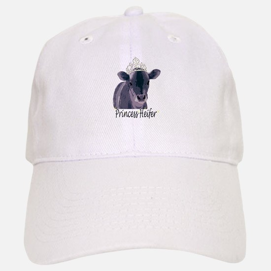 Cow Art Heifer Princess Baseball Baseball Cap
