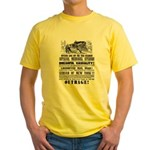RAILROAD OUTRAGE Yellow T-Shirt