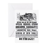 RAILROAD OUTRAGE Greeting Cards (Pk of 20)