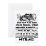 RAILROAD OUTRAGE Greeting Card
