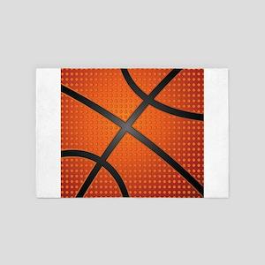 Basketball Ball 4' x 6' Rug